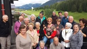 Le groupe sur la terrasse de la Maison du Plateau.